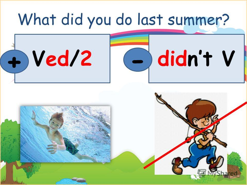 What did you do last summer? Ved/2 + didnt V -