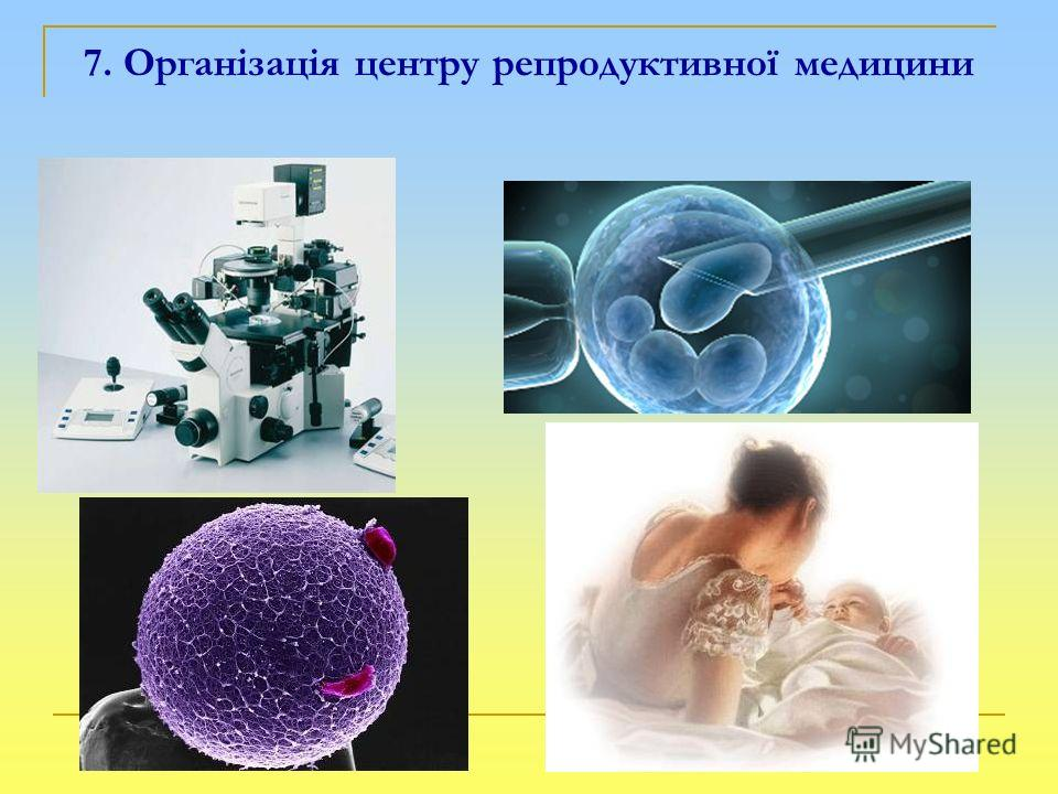 7. Організація центру репродуктивної медицини