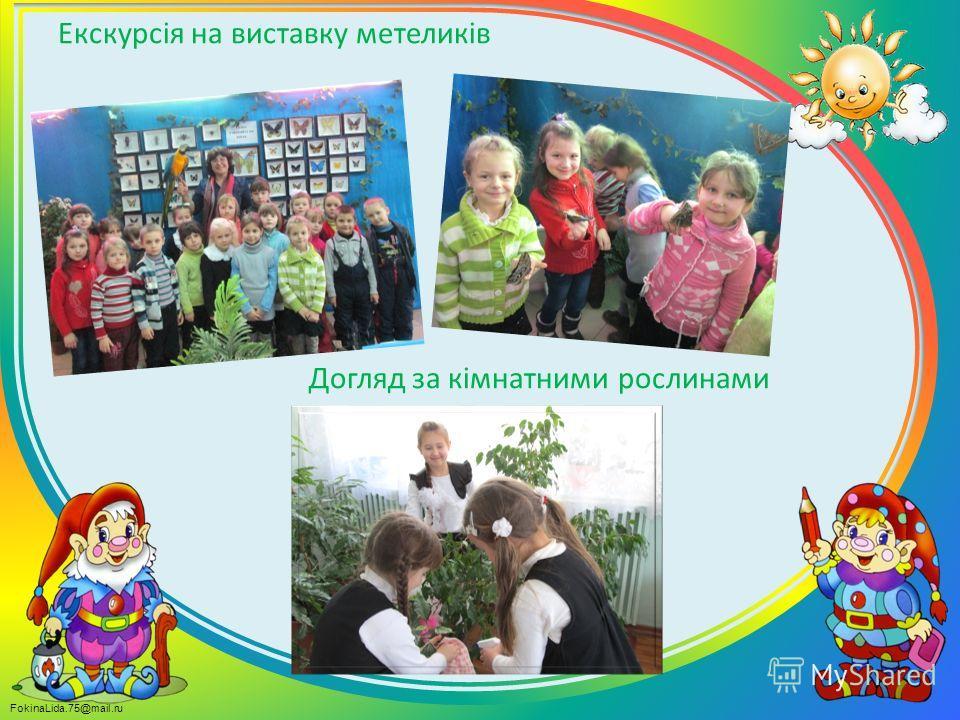 FokinaLida.75@mail.ru Екскурсія на виставку метеликів Догляд за кімнатними рослинами