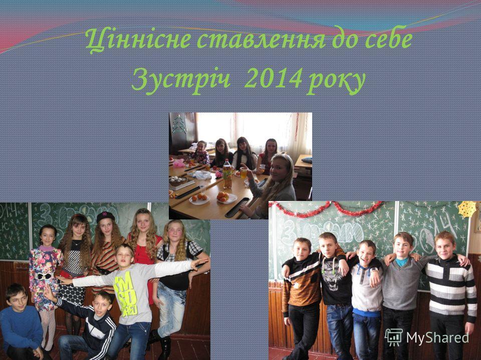 Ціннісне ставлення до себе Зустріч 2014 року