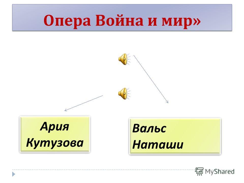 Опера Война и мир » Ария Кутузова Вальс Наташи