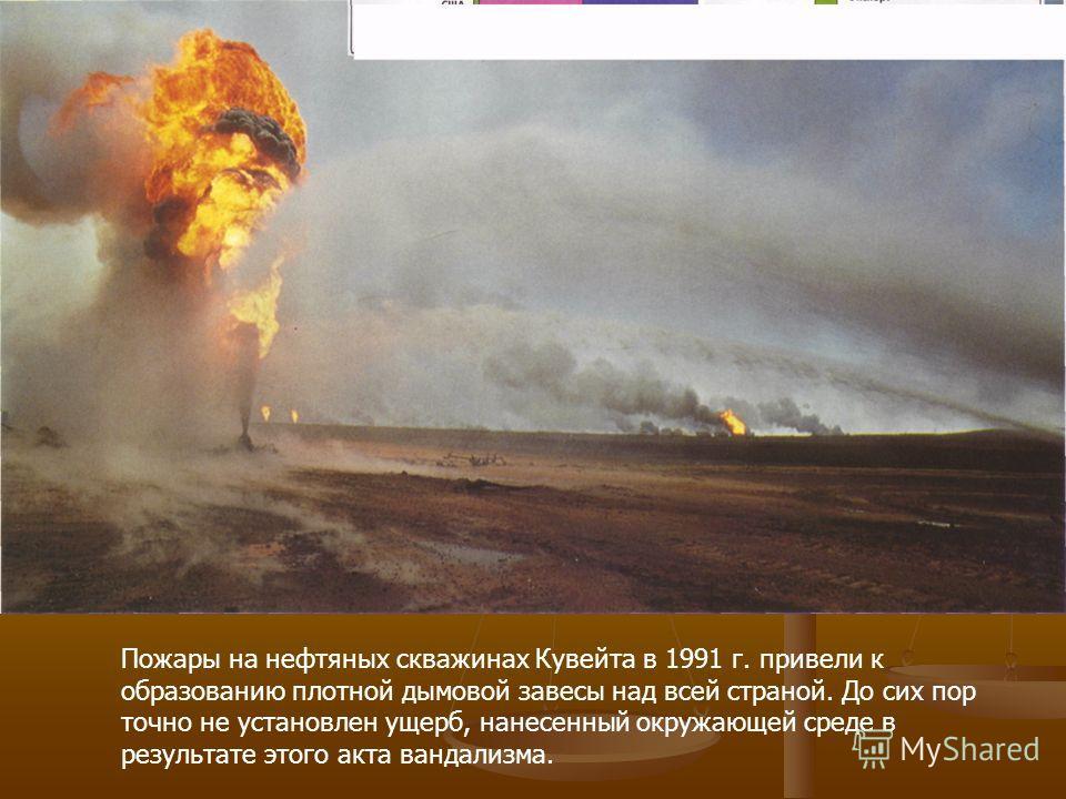 Схема процессов распределения и разрушения нефти, разлитой в море