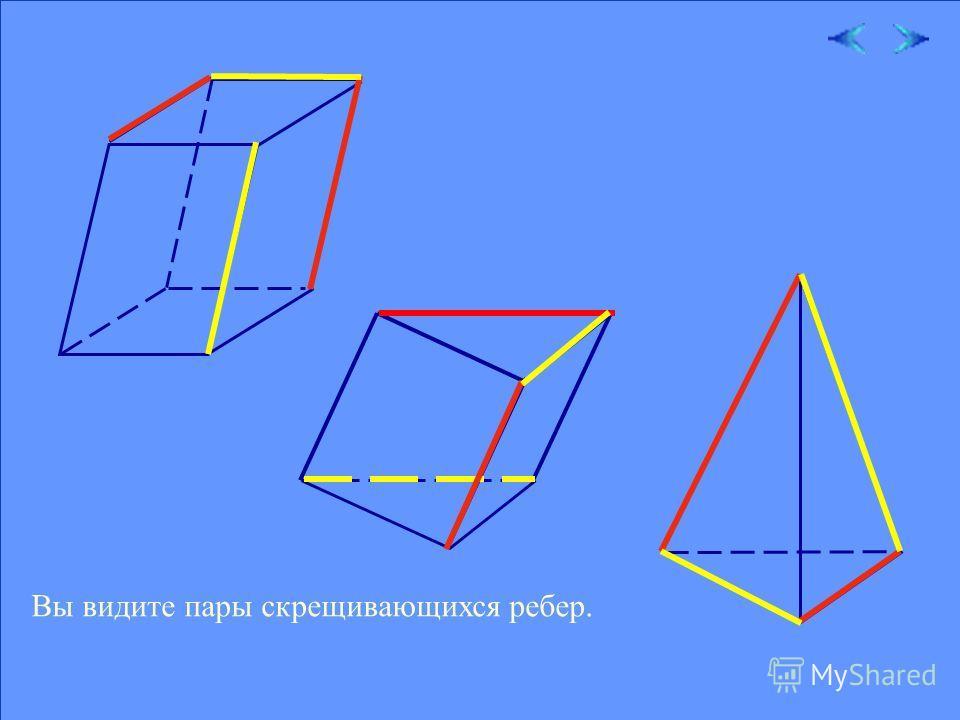 18.02.201411 Теперь вы догадываетесь, какие интересные конструкции можно составлять из скрещивающихся прямых. Без скрещивающихся ребер нет и многогранника. Рассмотрим несколько моделей различных многогранников.