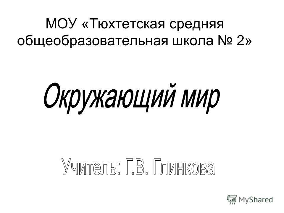 МОУ «Тюхтетская средняя общеобразовательная школа 2»