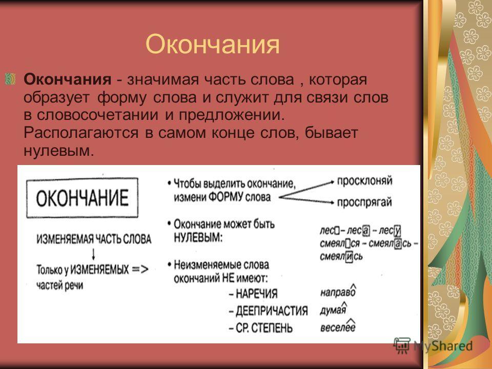 Суффиксы Суффиксы - значение (словооб разовательное). Передают и лексическое, и (чаще) грамматическое значение. Может перевести слово из одной части речи в другую.