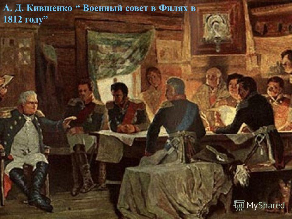 А. Д. Кившенко Военный совет в Филях в 1812 году