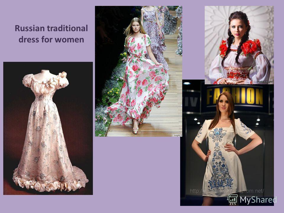 Russian traditional dress for women