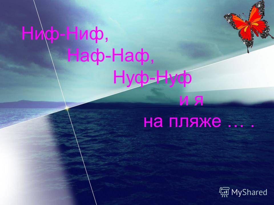 Ниф-Ниф, Наф-Наф, Нуф-Нуф и я на пляже ….
