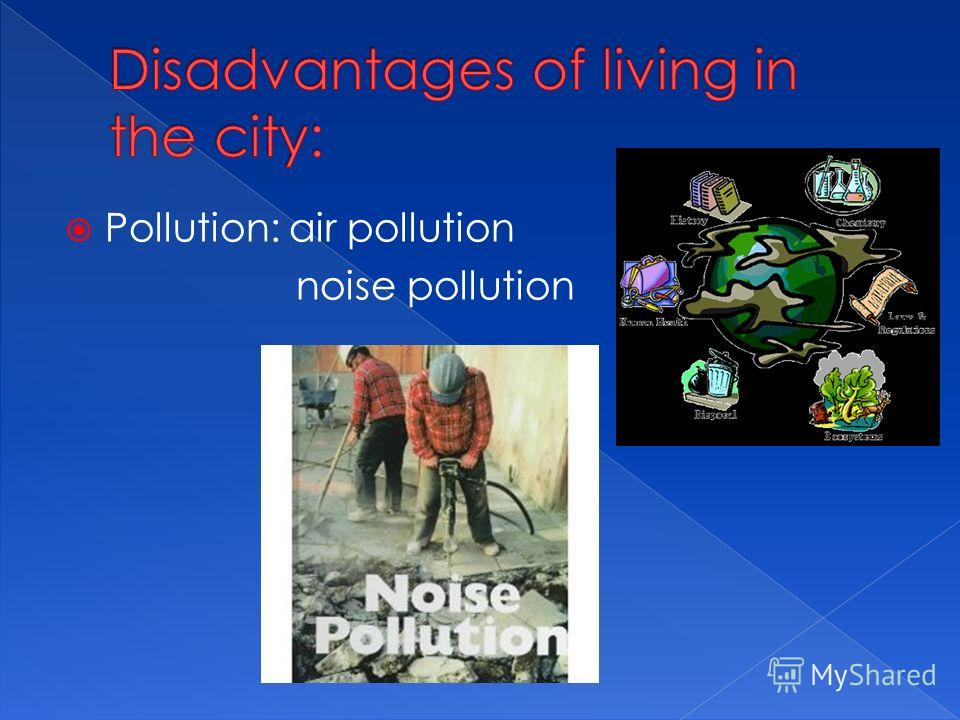 Pollution: air pollution noise pollution
