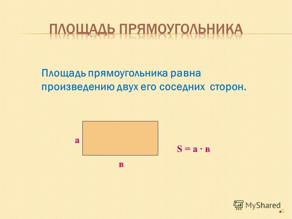 - Любая плоская геометрическая фигура имеет площадь. - Эта площадь – единственная. - Площадь любой геометрической фигуры выражается положительным числом. - Площадь квадрата со стороной,равной единице,равна единице. - Площадь фигуры равна сумме площад