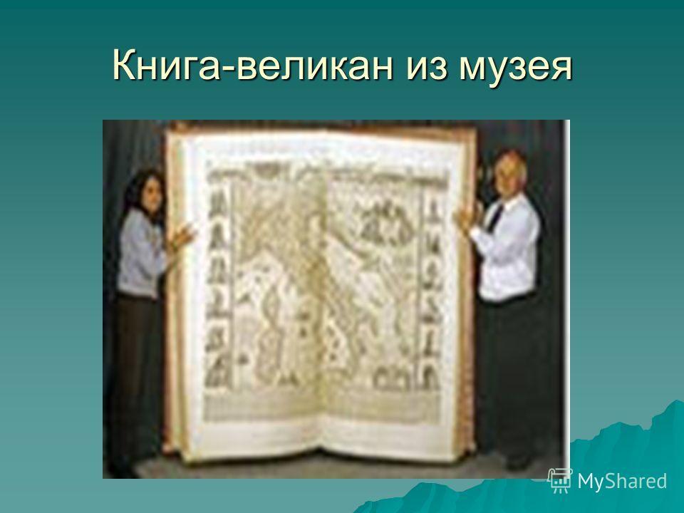 Книга-великан из музея