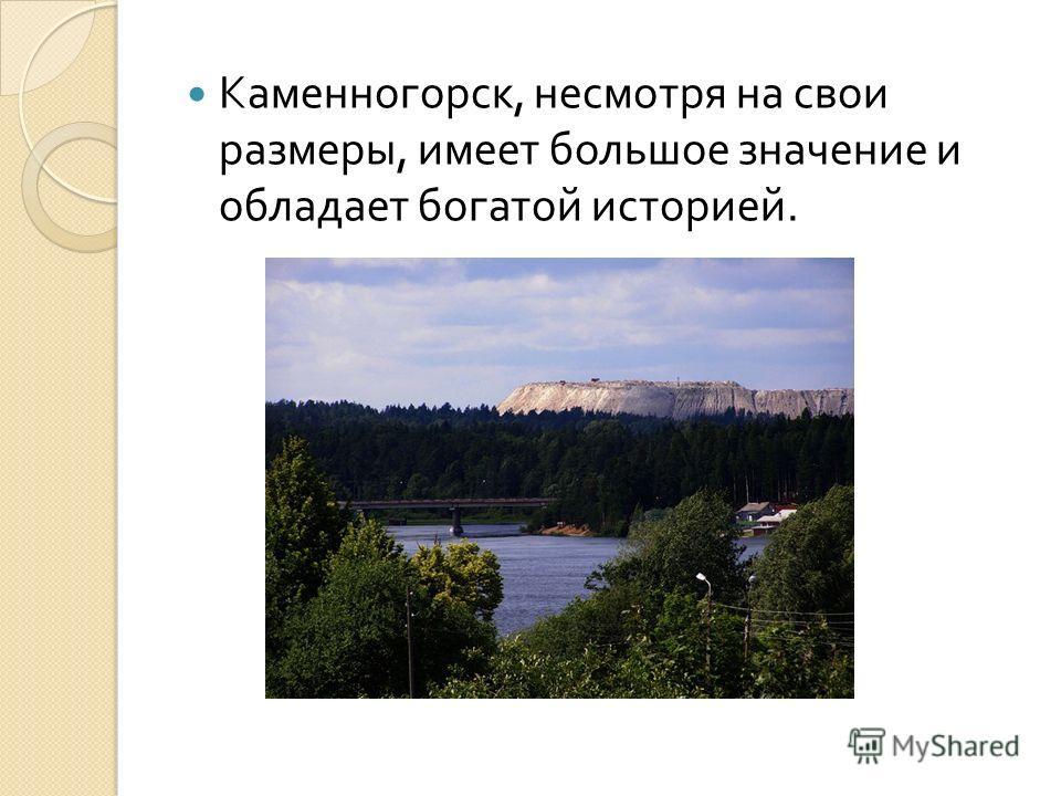 Каменногорск, несмотря на свои размеры, имеет большое значение и обладает богатой историей.
