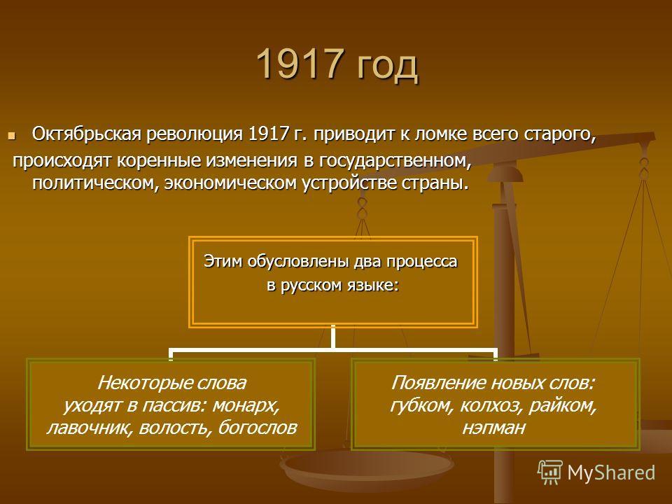 Русский язык советского периода 20 век Октябрь 1917 по апрель 1985 С апреля 1985 по настоящее время