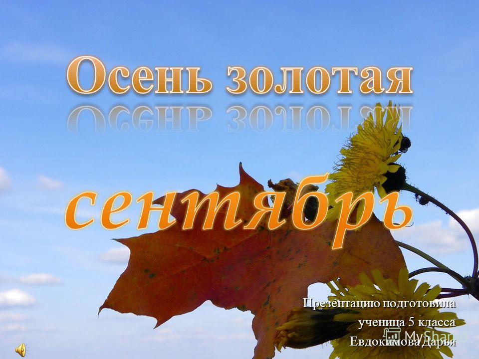 Презентацию подготовила ученица 5 класса Евдокимова Дарья Евдокимова Дарья