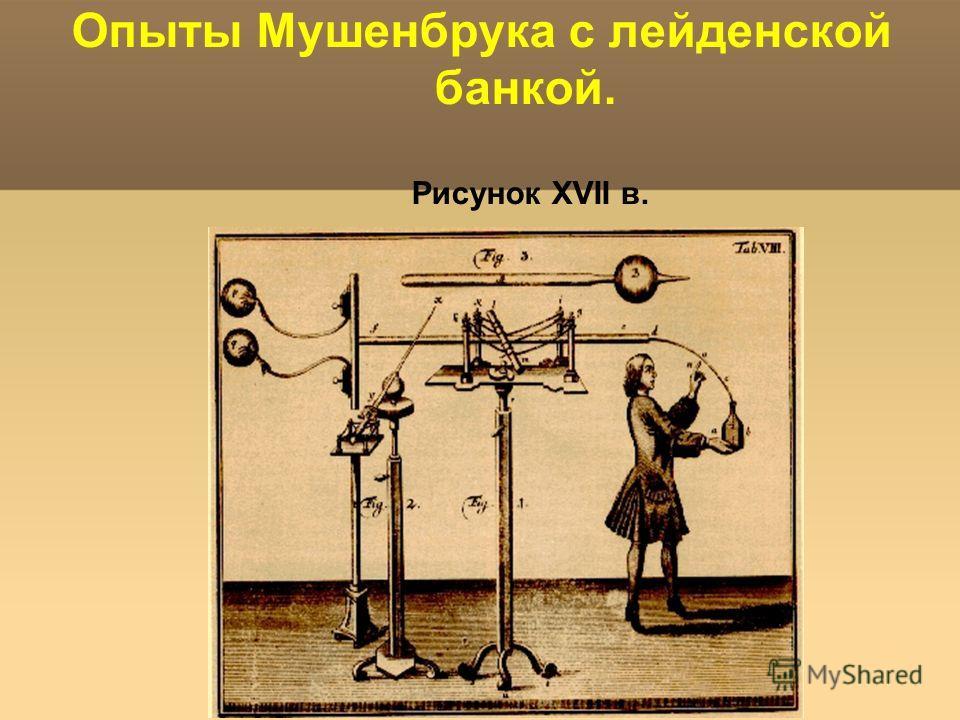 Яковлева Т.Ю. Опыты Мушенбрука с лейденской банкой. Рисунок XVII в.