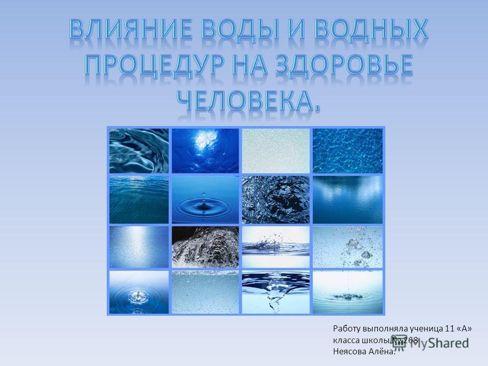 Работу выполняла ученица 11 «А» класса школы 268 Неясова Алёна.