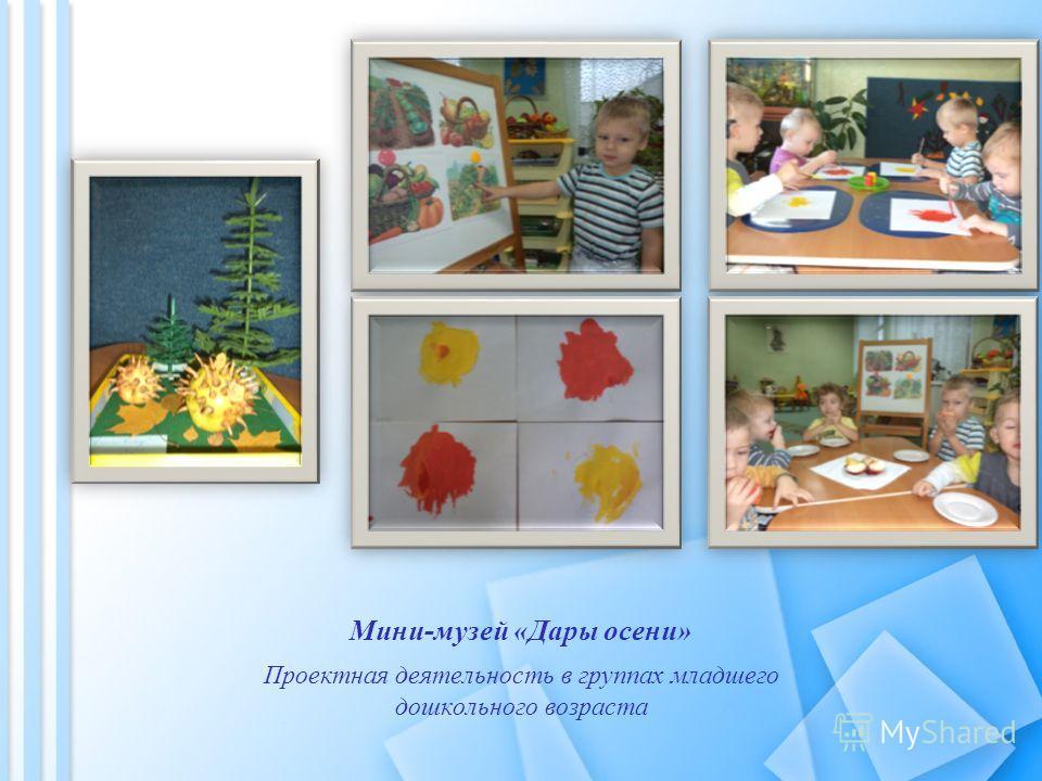 Мини-музей «Дары осени» Проектная деятельность в группах младшего дошкольного возраста