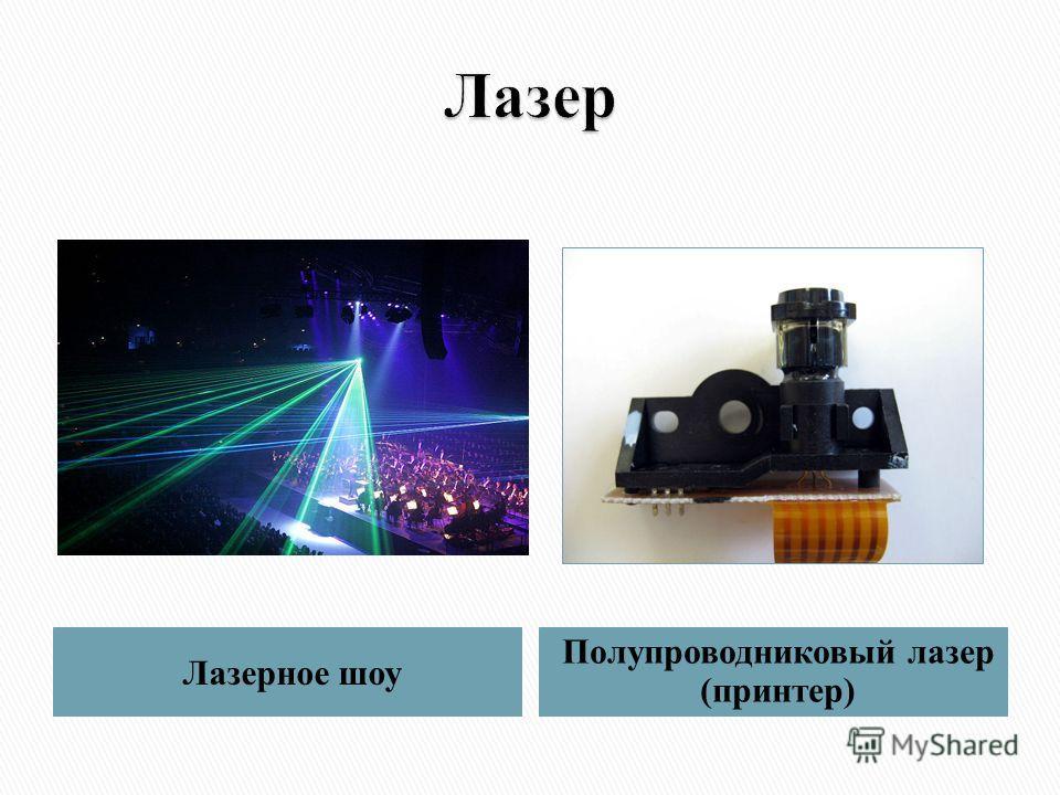 Лазерное шоу Полупроводниковый лазер (принтер)