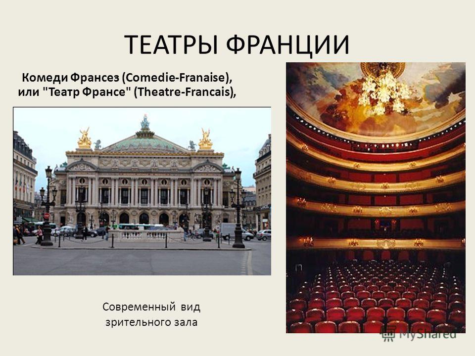 ТЕАТРЫ ФРАНЦИИ Комеди Франсез (Comedie-Franaise), или Театр Франсе (Theatre-Francais), Современный вид зрительного зала