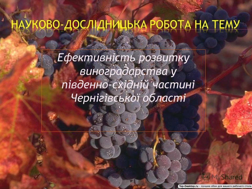 Ефективність розвитку виноградарства у південно-східній частині Чернігівської області