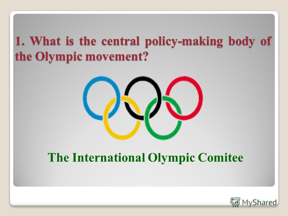2-nd round: The Olympic movement The Olympic movement