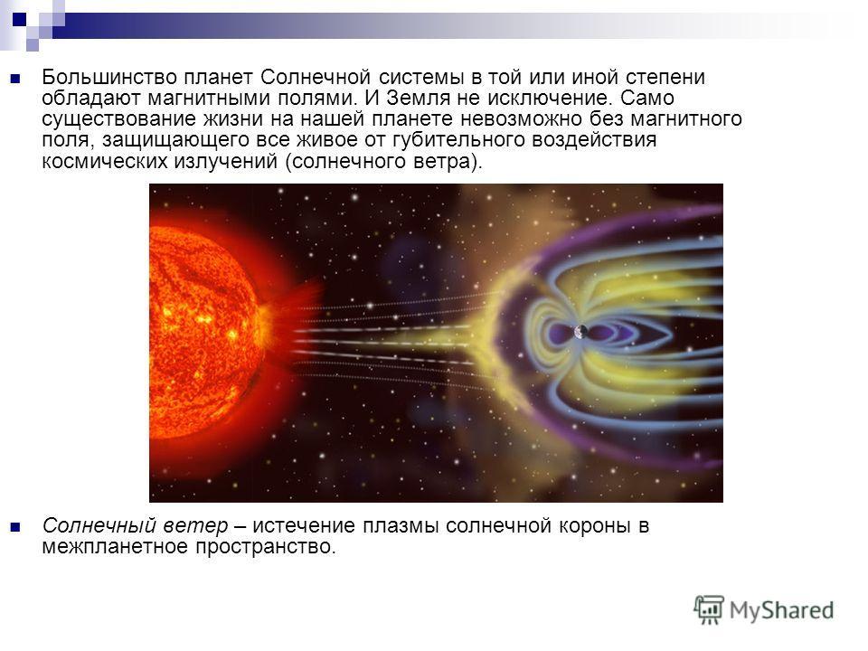 Большинство планет Солнечной системы в той или иной степени обладают магнитными полями. И Земля не исключение. Само существование жизни на нашей планете невозможно без магнитного поля, защищающего все живое от губительного воздействия космических изл