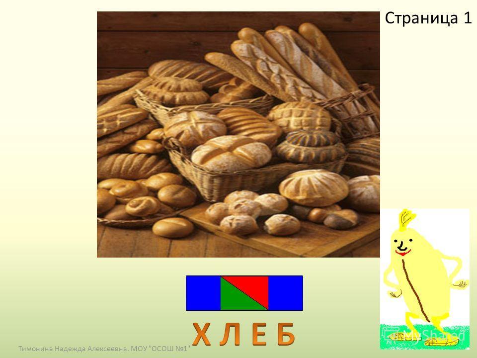 Страница 1 2 Тимонина Надежда Алексеевна. МОУ ОСОШ 1