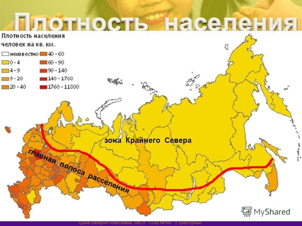главная полоса расселения зона Крайнего Севера Удина Валерия Алексеевна, МКОУ СОШ 106,г.Трехгорный