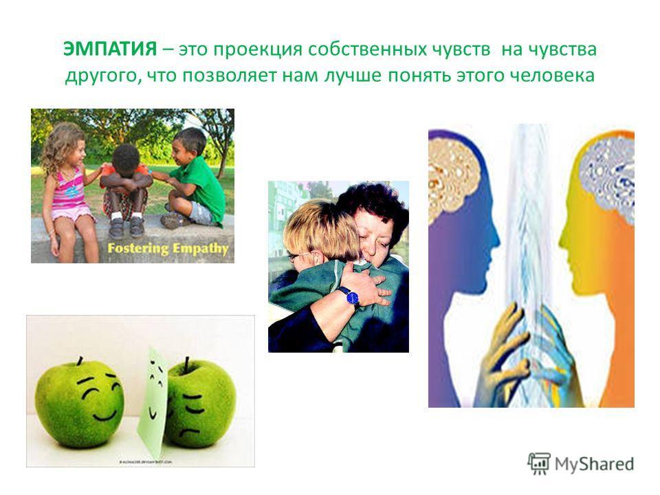 ЭМПАТИЯ – это проекция собственных чувств на чувства другого, что позволяет нам лучше понять этого человека