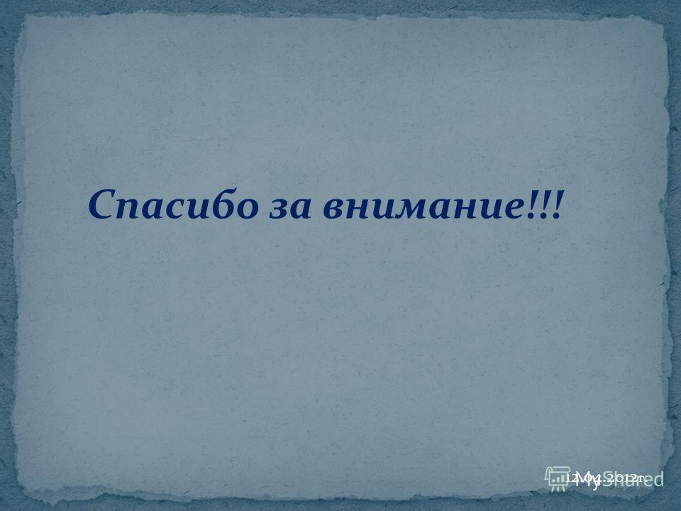 Спасибо за внимание!!! 12.04.2012 г.