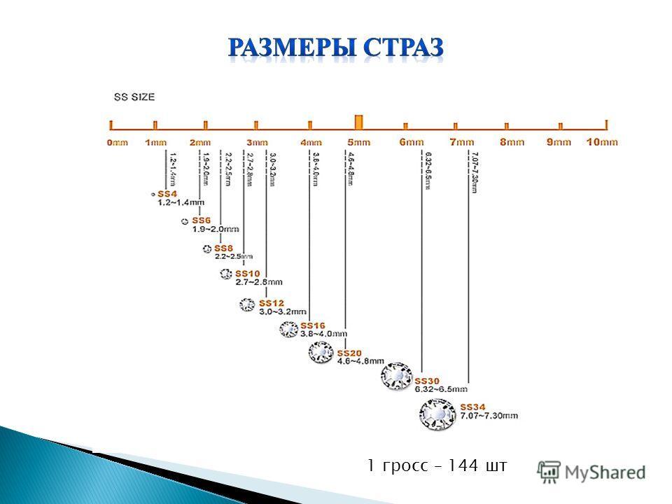 1 гросс – 144 шт