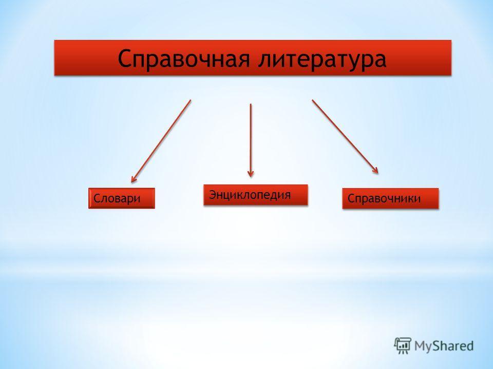 Справочная литература Энциклопедия Справочники