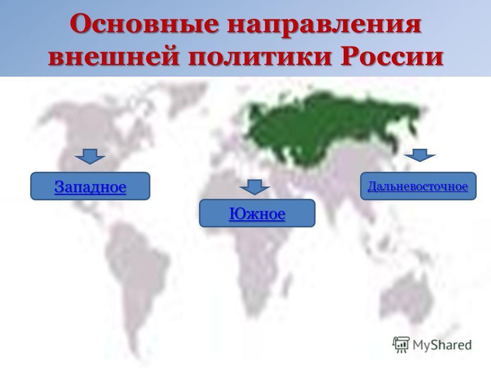 Основные направления внешней политики России ЗЗЗЗ аааа пппп аааа дддд нннн оооо ееее ЮЮЮЮ жжжж нннн оооо ееее ДДДД аааа лллл ьььь нннн ееее вввв оооо сссс тттт оооо чччч нннн оооо ееее