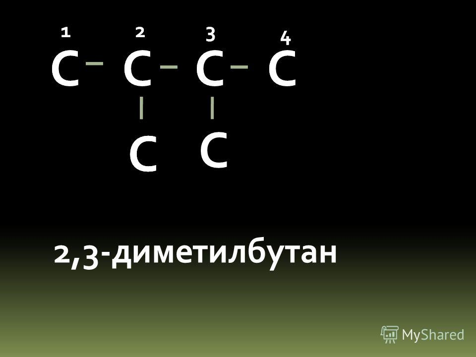 С С С 2,2-диметилбутан 123 4 С