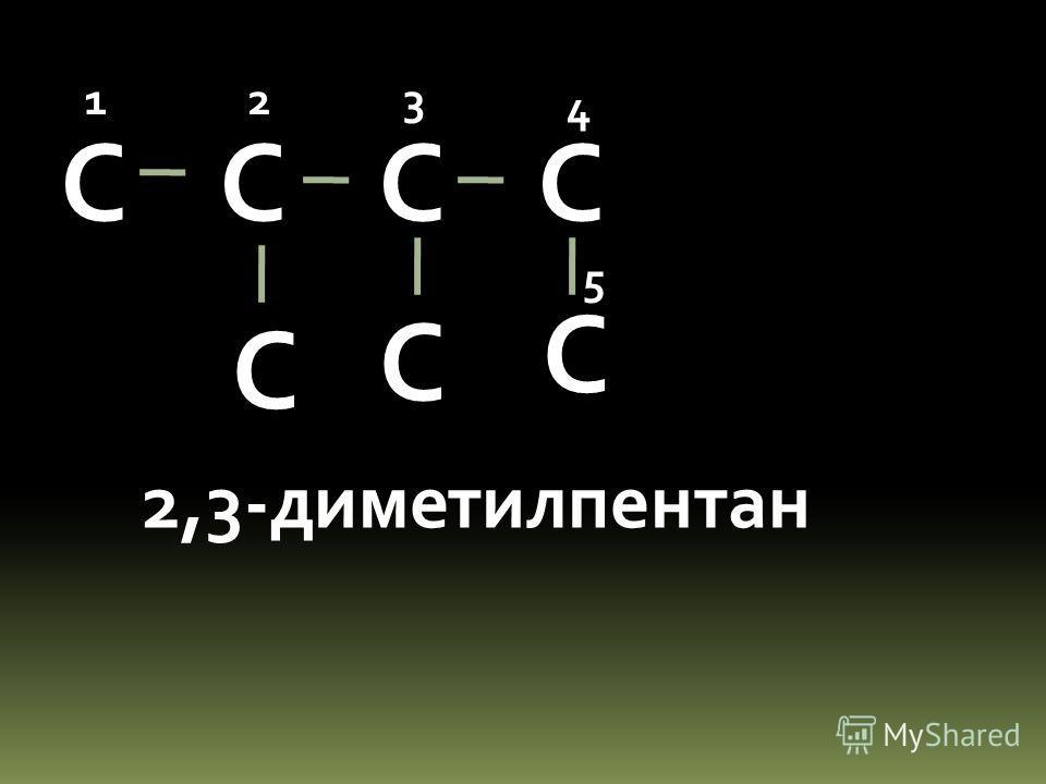 С С С С С С 2,3-диметилпентан 123 4 5 С