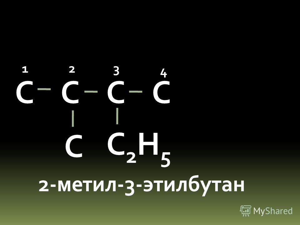С С С 2,3,3-триметилбутан 12 3 4 С С