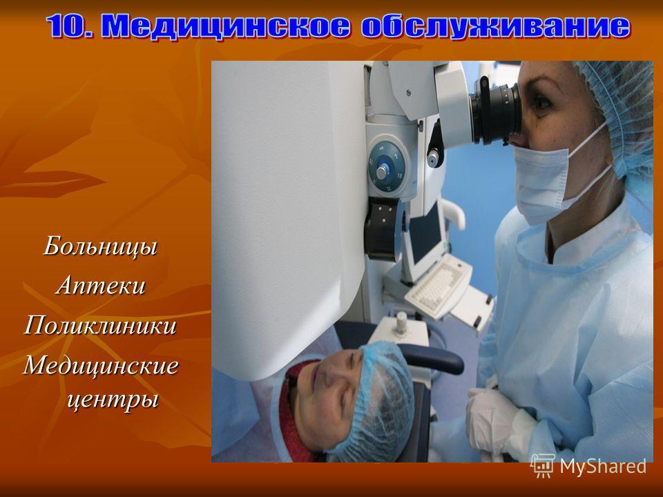 БольницыАптекиПоликлиники Медицинские центры