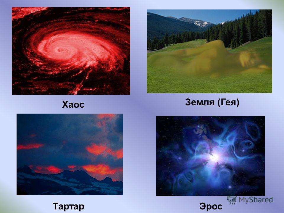 Хаос Эрос Земля (Гея) Тартар