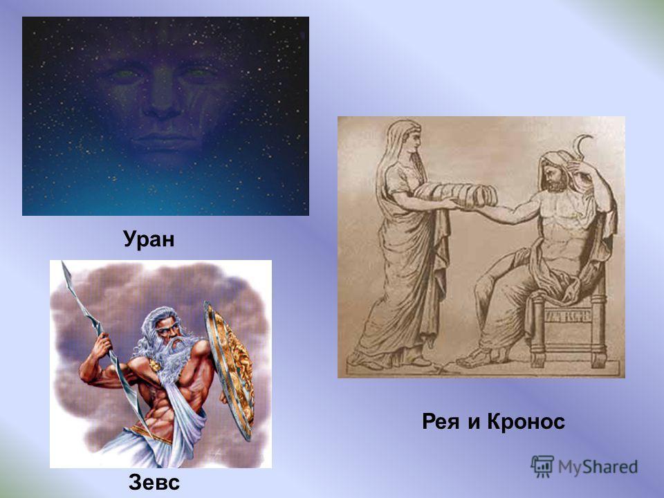 Уран Рея и Кронос Зевс