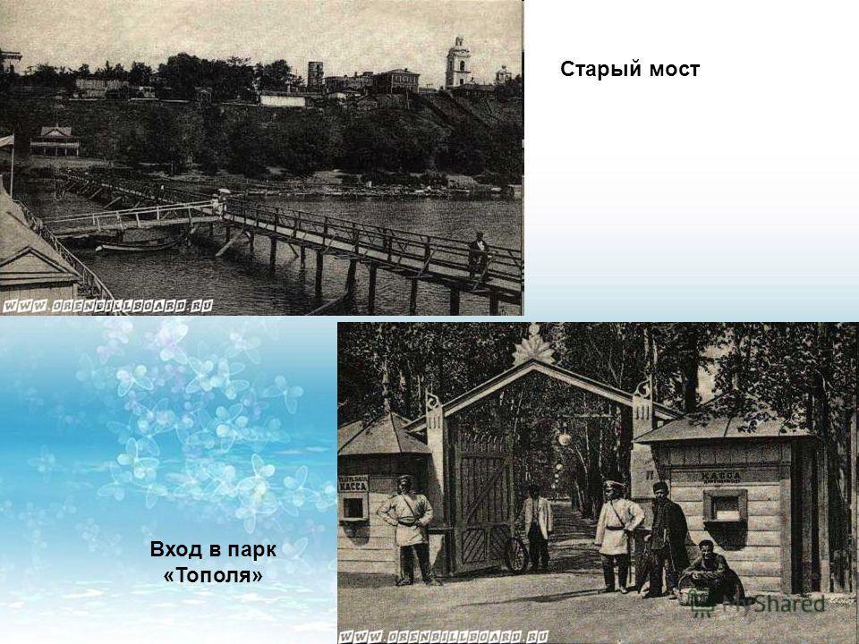Старый мост Вход в парк «Тополя»