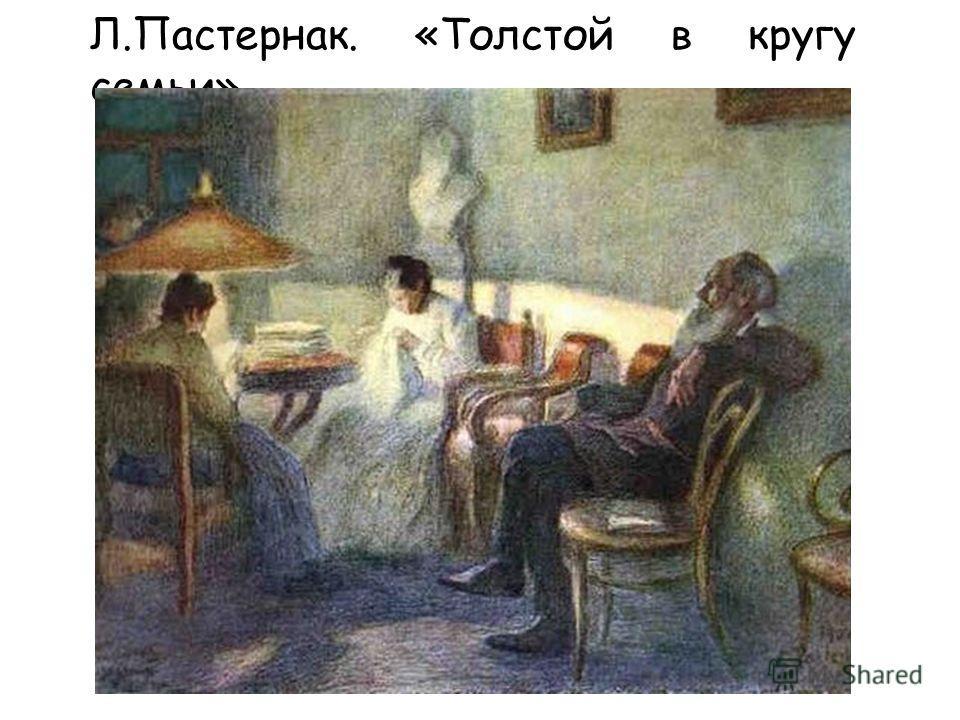 Л.Пастернак. «Толстой в кругу семьи»