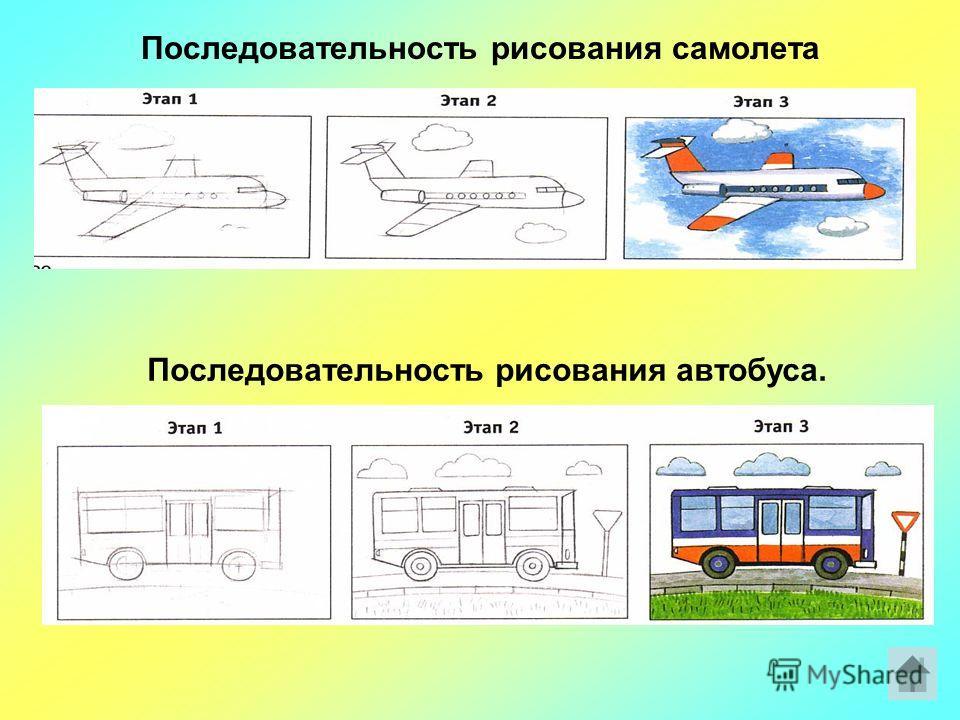 Рисуем транспорт Последовательность рисования парусного корабля. Последовательность рисования грузовой машины