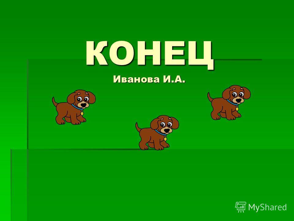 КОНЕЦ Иванова И.А.