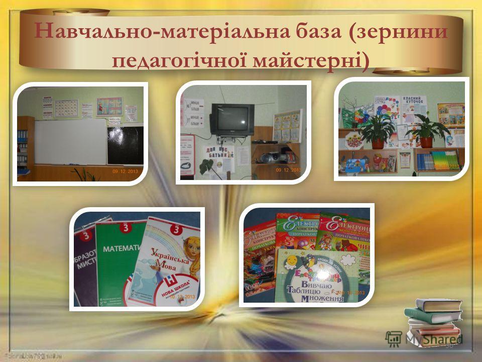 Навчально-матеріальна база (зернини педагогічної майстерні) 30