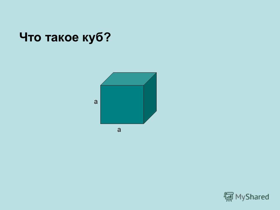 Что такое куб? а а