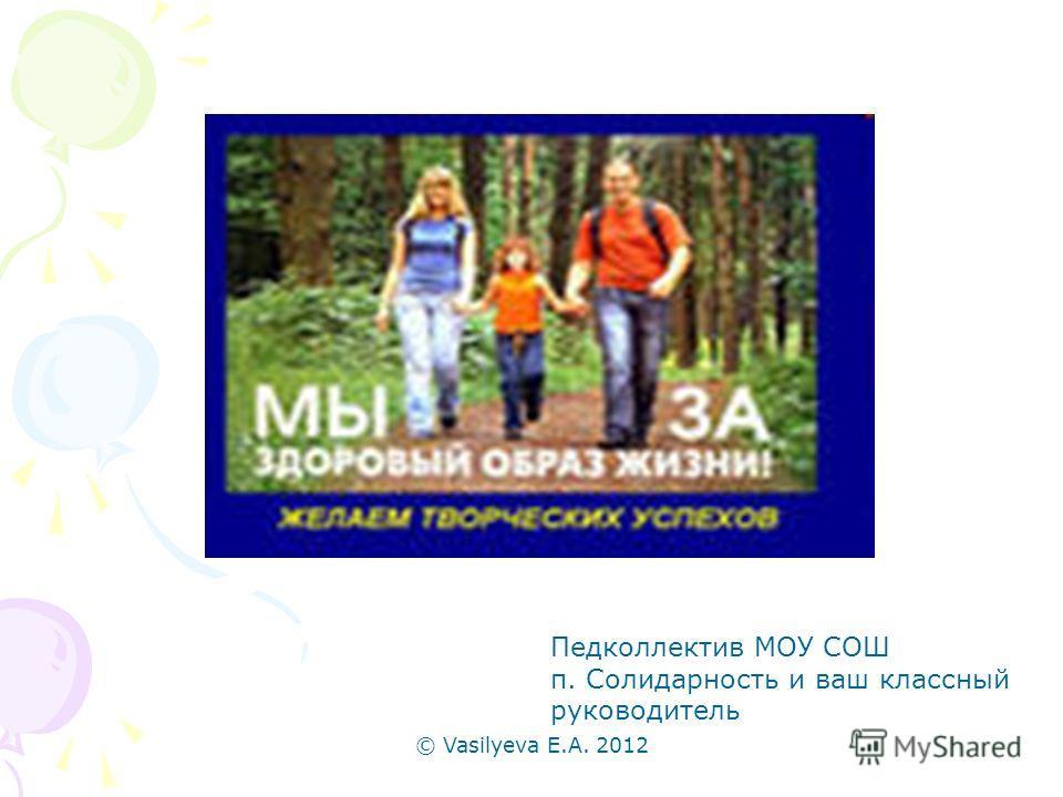 © Vasilyeva E.A. 2012 Педколлектив МОУ СОШ п. Солидарность и ваш классный руководитель