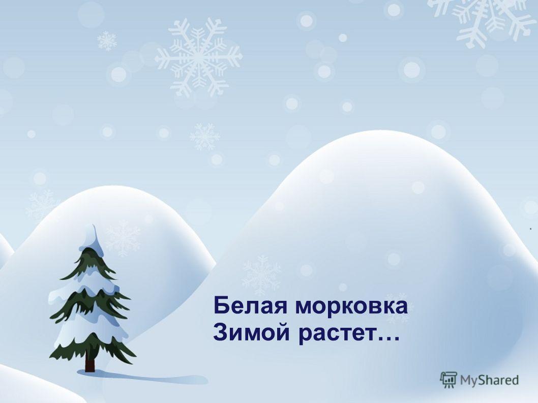 Белая морковка Зимой растет…