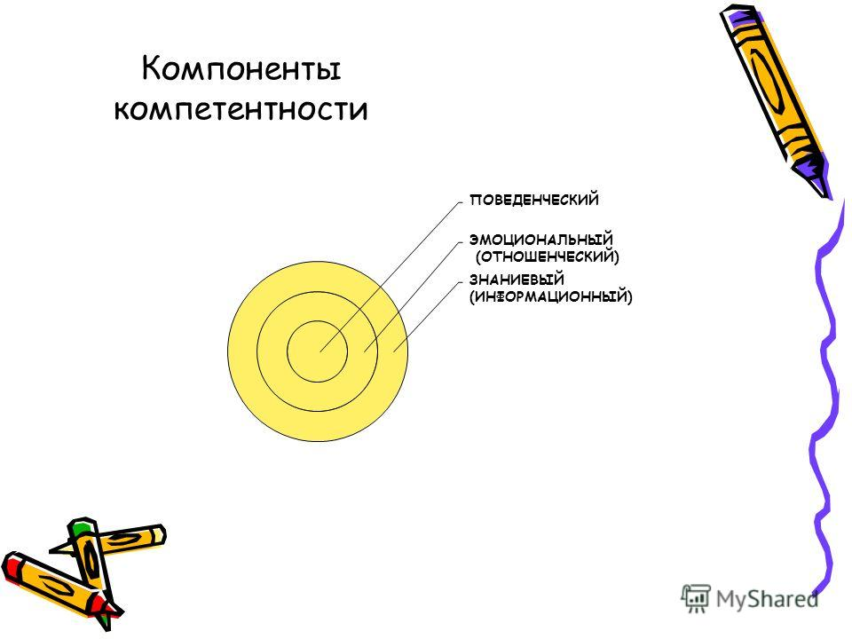 ПОВЕДЕНЧЕСКИЙ ЭМОЦИОНАЛЬНЫЙ (ОТНОШЕНЧЕСКИЙ) ЗНАНИЕВЫЙ (ИНФОРМАЦИОННЫЙ) Компоненты компетентности