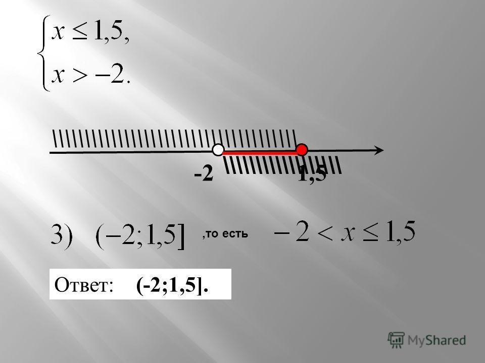 \\\\\\\\\\\\\\\\\\ \\\\\\\\\\\\\\\\\\\\\\\\\\\\\\\\\\\\\ 1,5-2 Ответ: (-2;1,5].,то есть