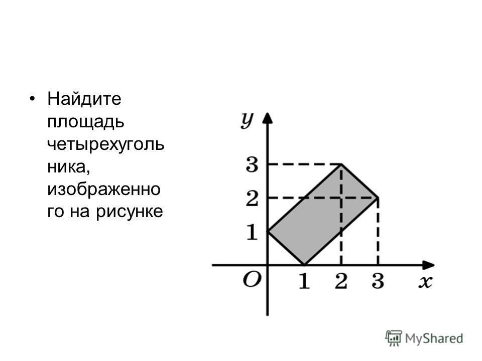 Найдите площадь четырехуголь ника, изображенно го на рисунке